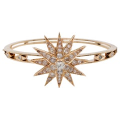 Celestial Victorian 4.25 Carat Top Quality Diamond Victorian Bangle