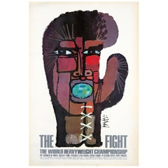 Celestino Piatti 'the Fight' 'Vintage Muhammad Ali, Joe Frazier Boxing Poster'