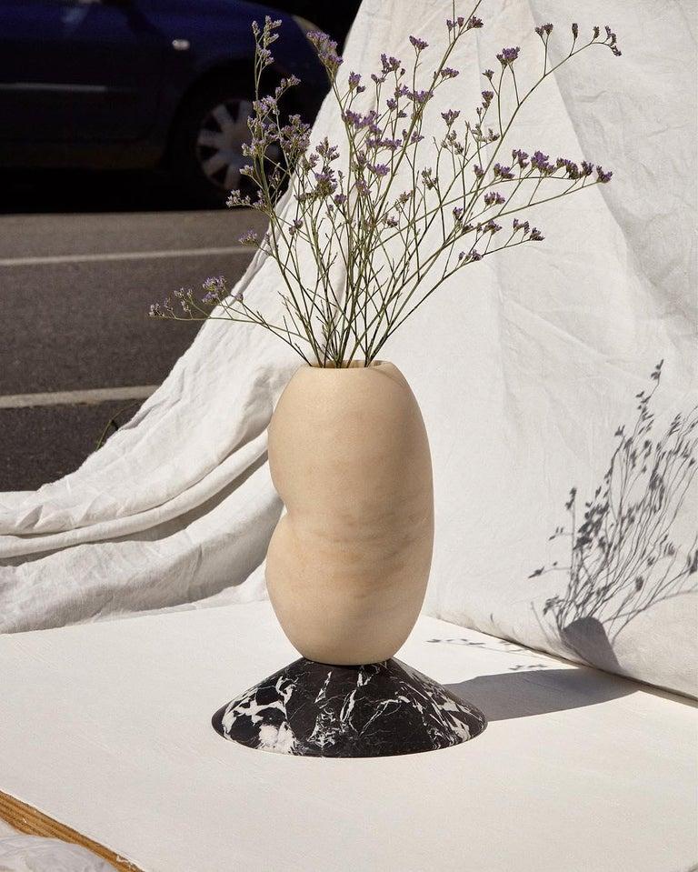 Italian Celia, Marble Contemporary Vase, Valentina Cameranesi