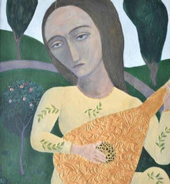 Rhythm Of Summer. Contemporary Figurative Mixed Media Painting
