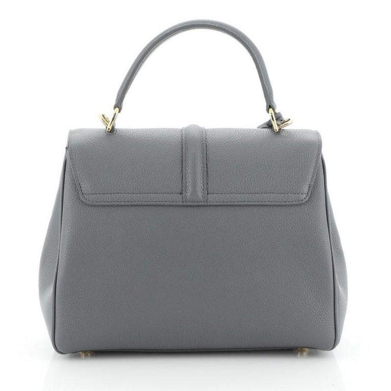 Celine 16 Top Handle Bag Grained Calfskin Small In Good Condition In New York, NY