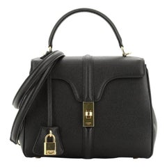 Celine 16 Top Handle Bag Grained Calfskin Small