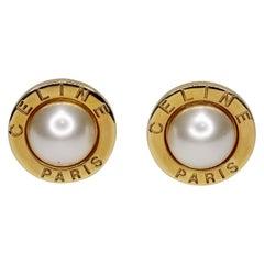 Céline 1980s Faux Pearl Earrings