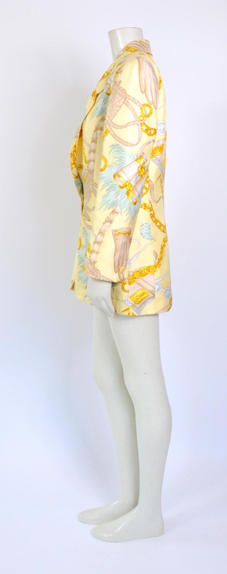 Women's or Men's Celine 1990s vintage signed spectacular print silk jacket. For Sale