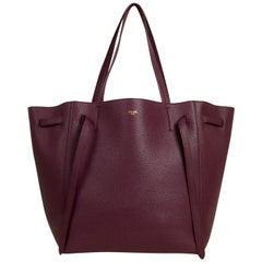 Celine Acai Calfskin Leather Small Belt Cabas Phantom Tote Bag