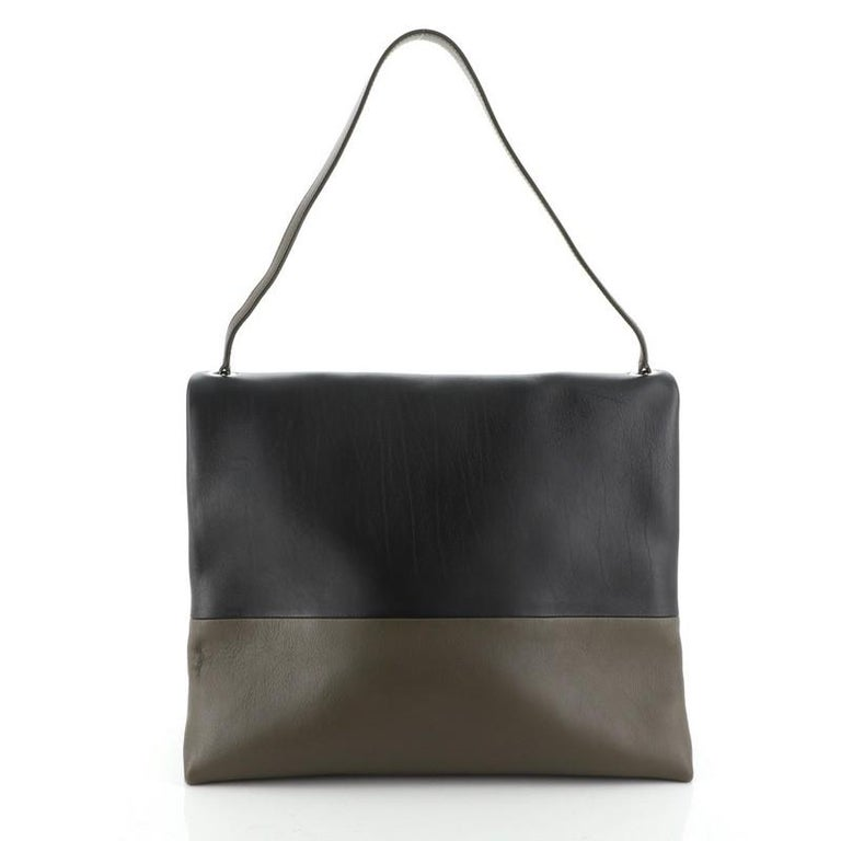 Celine All Soft Bag Suede with Leather In Good Condition For Sale In New York, NY