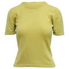 Celine Apple Green Cashmere Sweater Top
