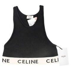 Celine Athletic Cotton Knit Black Sports Bra - Size M Sold Out - Us size 8