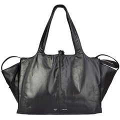 CELINE back leather TRI-FOLD Shoulder Bag