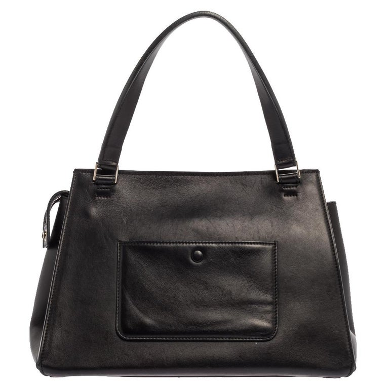 Women's Céline Beige/Black Calfhair and Leather Small Edge Bag For Sale