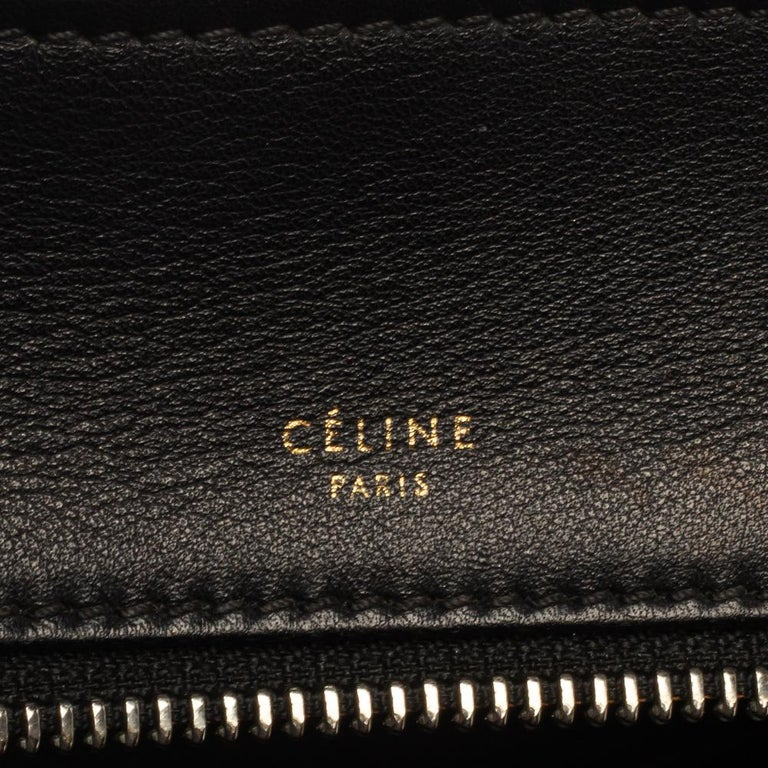 Céline Beige/Black Calfhair and Leather Small Edge Bag For Sale 5