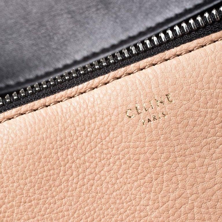 Celine Beige/Black Leather Medium Edge Bag For Sale 1