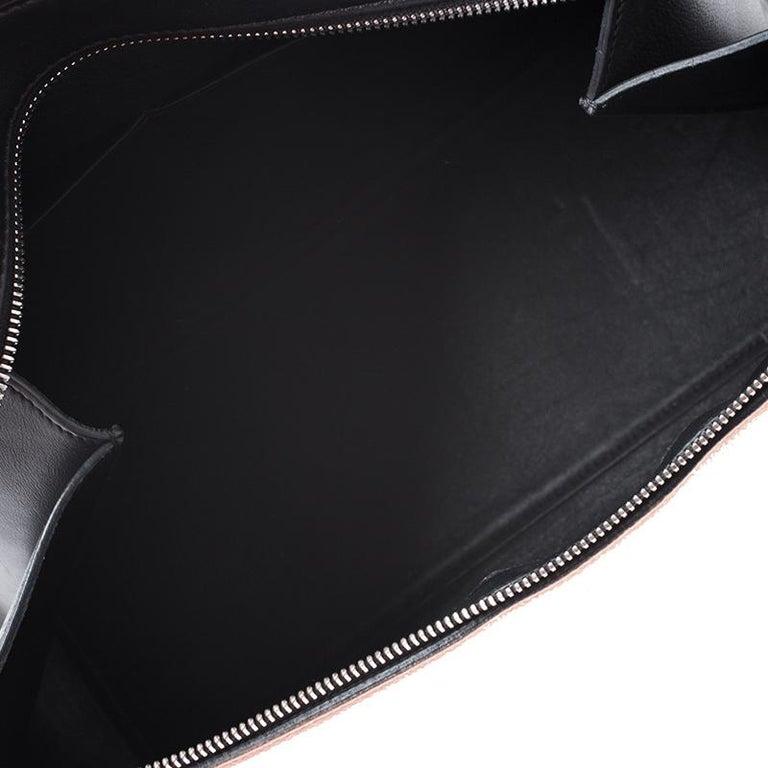 Celine Beige/Black Leather Medium Edge Bag For Sale 2