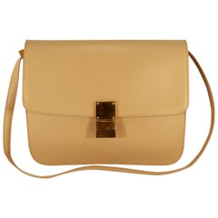 Celine Beige Calfskin Box Bag
