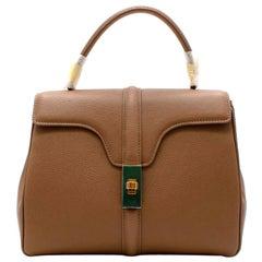 Celine Beige Grained Calfskin Small 16 Bag