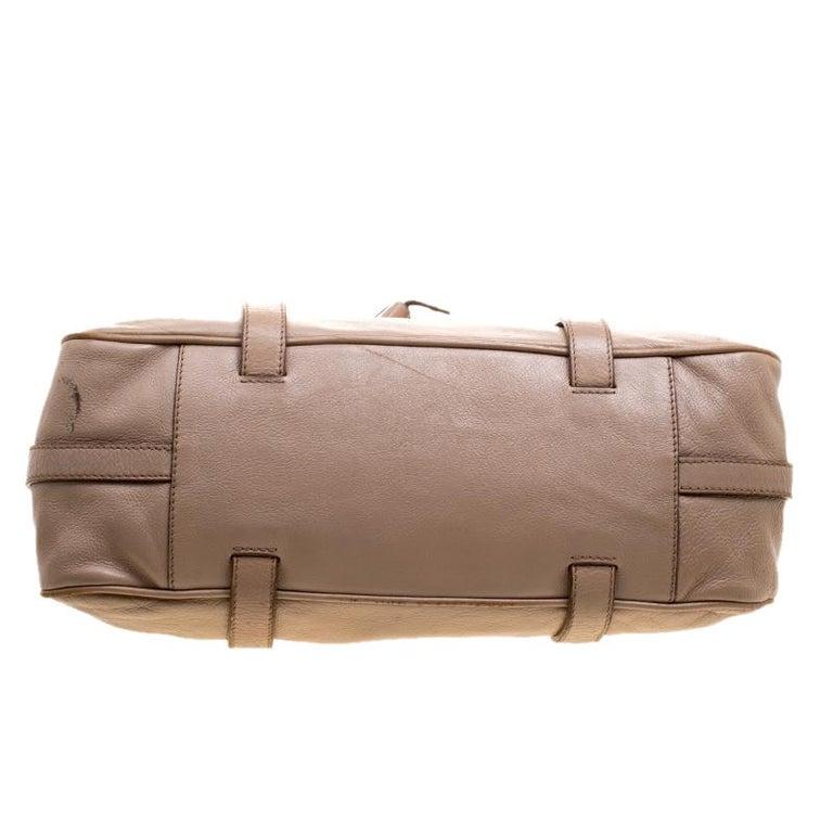 Celine Beige Leather Boston Bag For Sale 1
