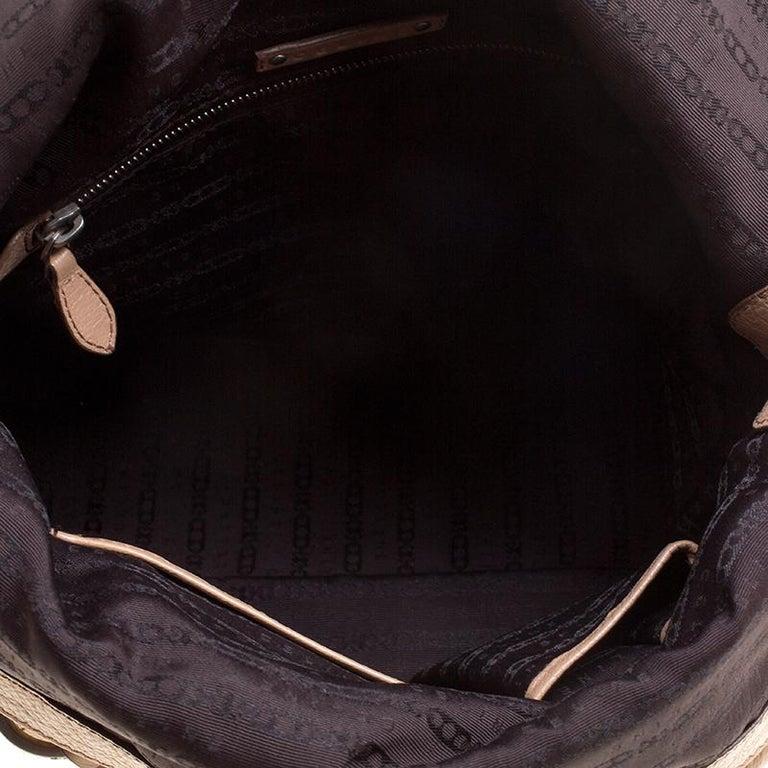 Celine Beige Leather Boston Bag For Sale 4