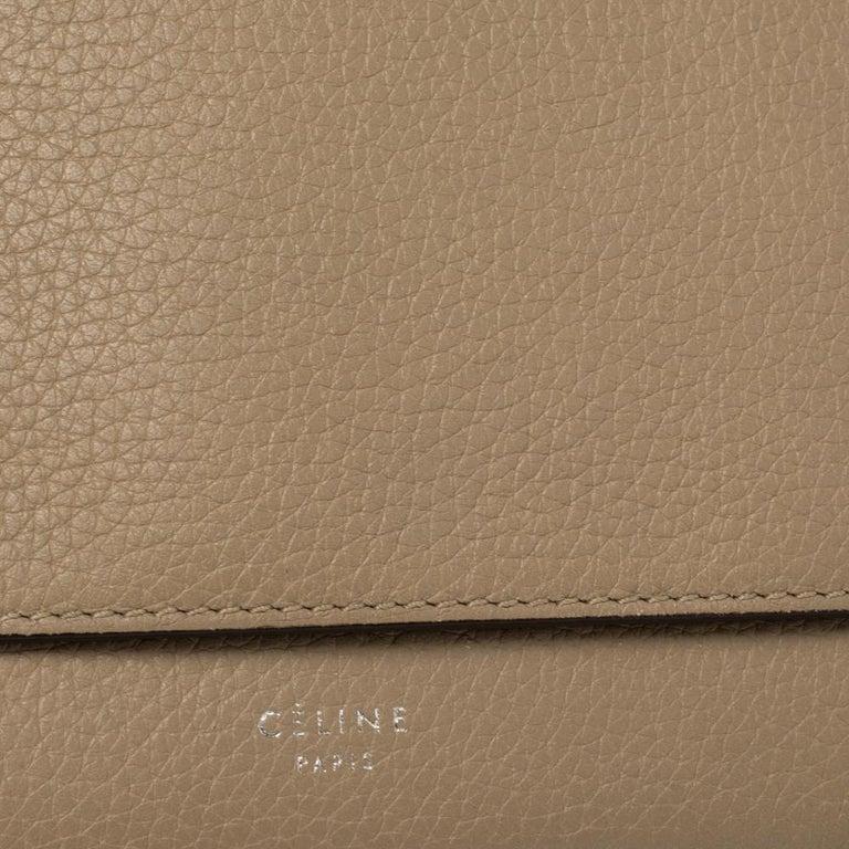 Celine Beige Leather Large Multifunction Flap Wallet For Sale 1