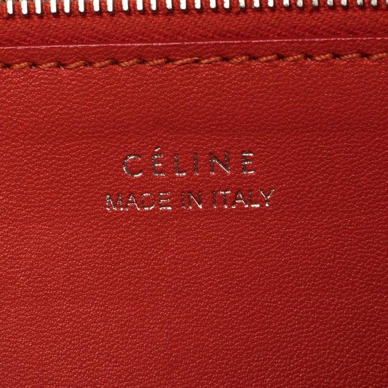 Celine Beige Leather Large Multifunction Flap Wallet For Sale 5