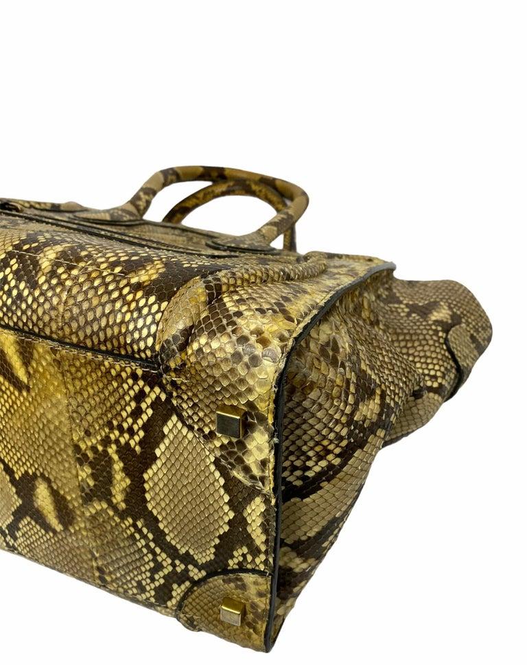 Celine Beige Leather Luggage Bag For Sale 6