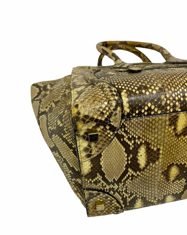 Celine Beige Leather Luggage Bag For Sale 7
