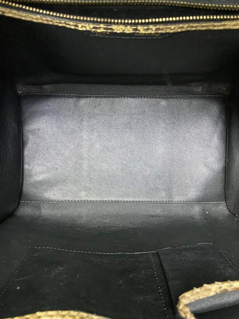 Celine Beige Leather Luggage Bag For Sale 8