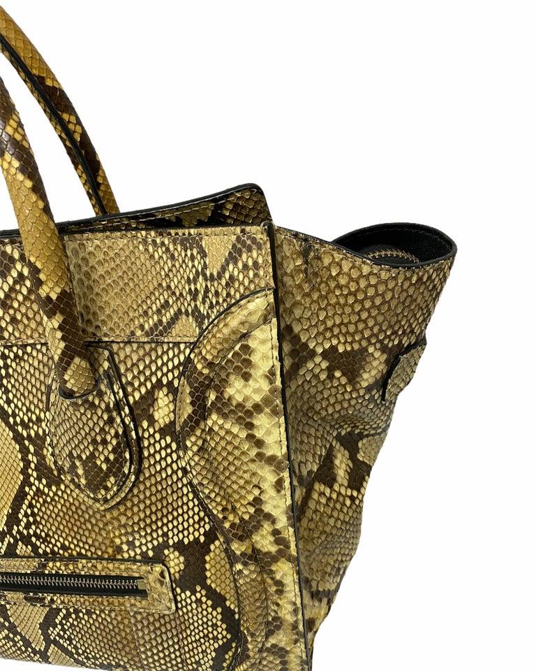 Women's Celine Beige Leather Luggage Bag For Sale