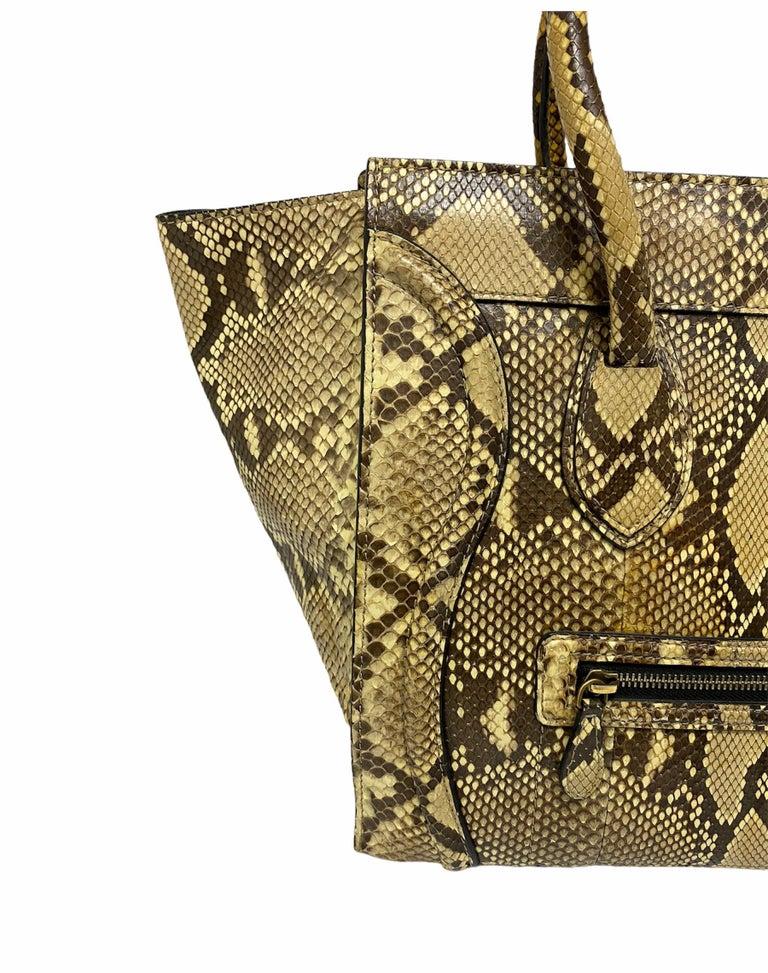 Celine Beige Leather Luggage Bag For Sale 1