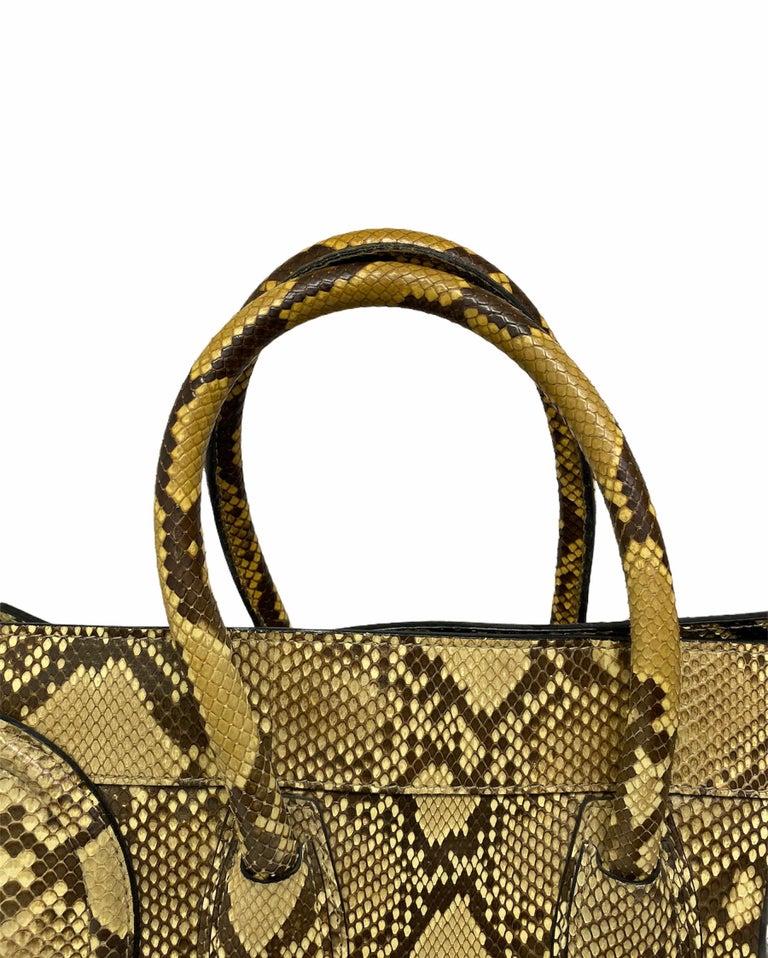 Celine Beige Leather Luggage Bag For Sale 2