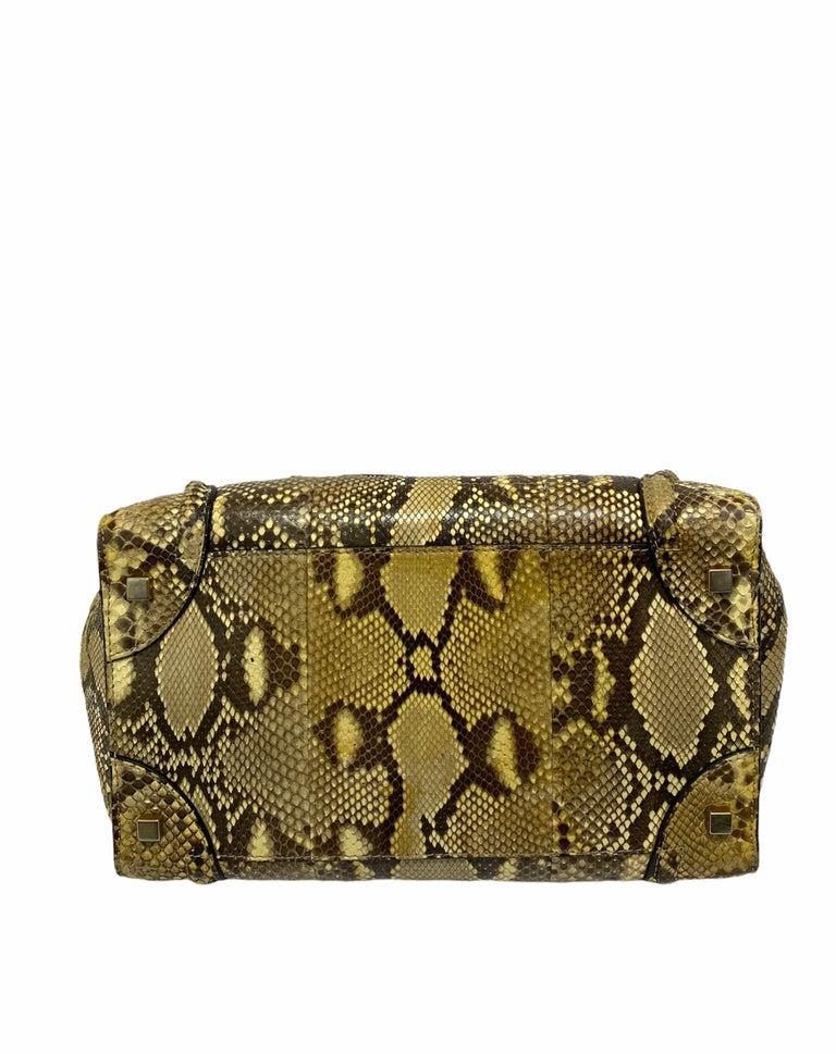 Celine Beige Leather Luggage Bag For Sale 4