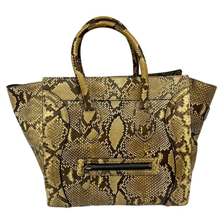 Celine Beige Leather Luggage Bag For Sale