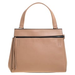 Celine Beige Leather Medium Edge Bag