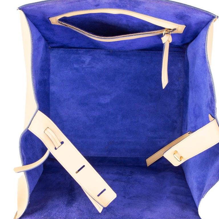 Women's CELINE beige leather PHANTOM LUGGAGE Tote Bag For Sale