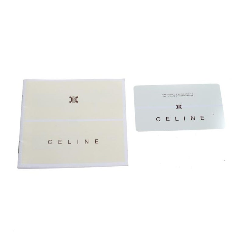 Celine Beige Leather Turnlock Flap Shoulder Bag 5