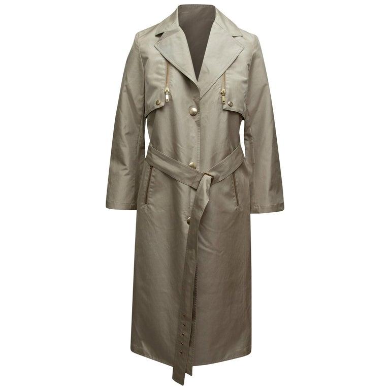 Celine Beige Long Trench Coat For Sale