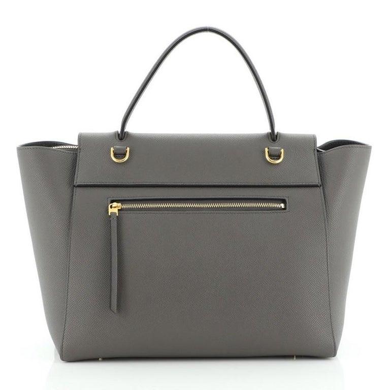 Gray Celine Belt Bag Textured Leather Medium For Sale
