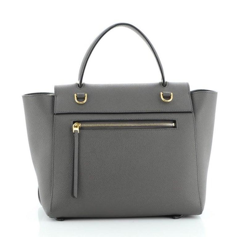 Women's or Men's Celine Belt Bag Textured Leather Micro For Sale