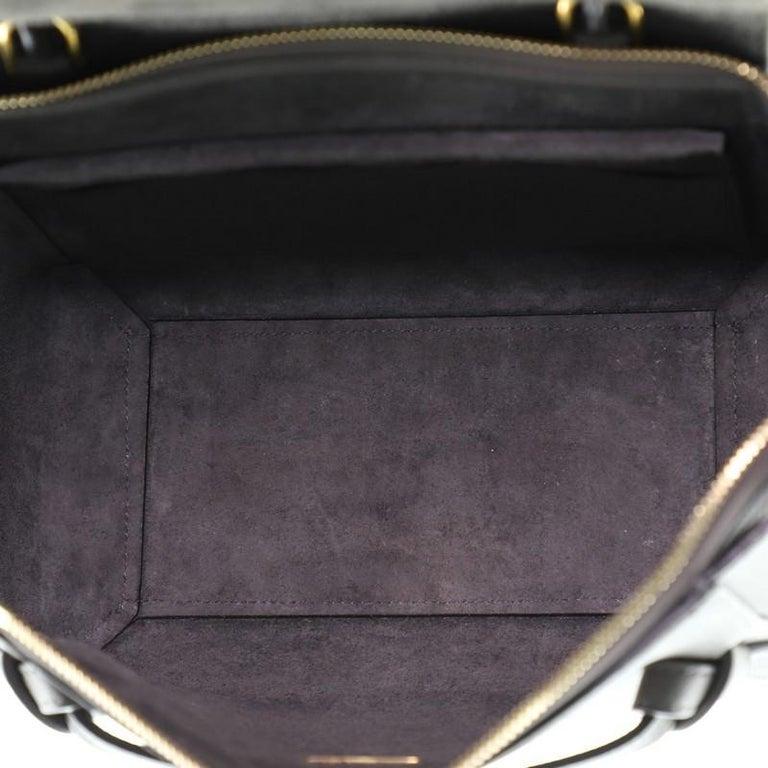Celine Belt Bag Textured Leather Micro For Sale 2