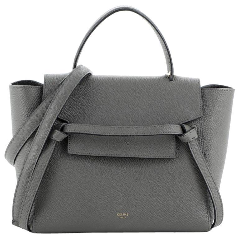 Celine Belt Bag Textured Leather Micro For Sale