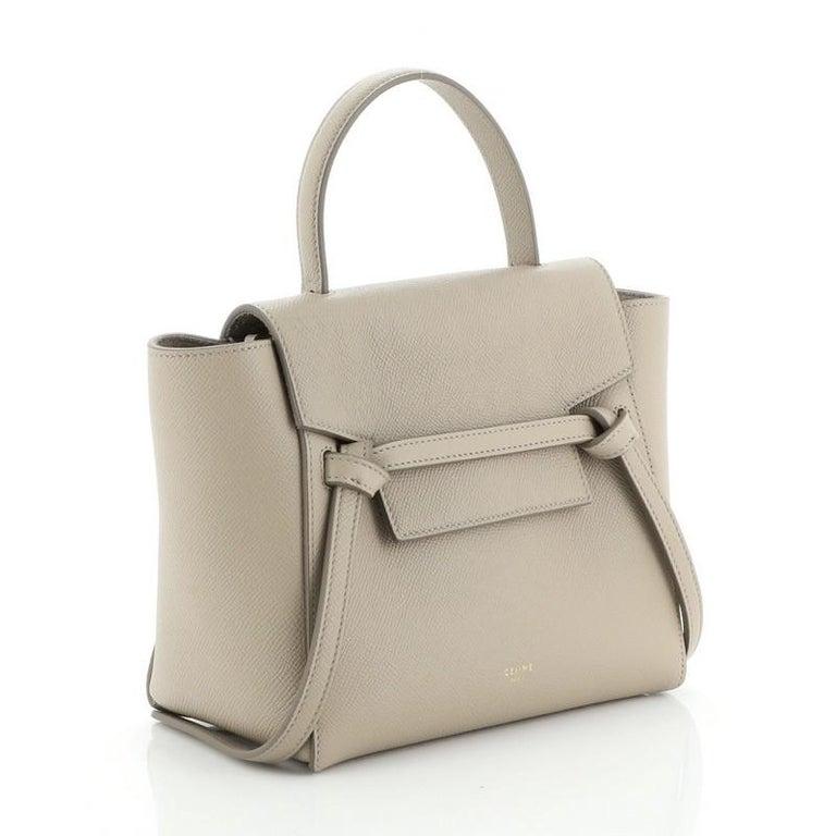 Brown Celine Belt Bag Textured Leather Nano For Sale