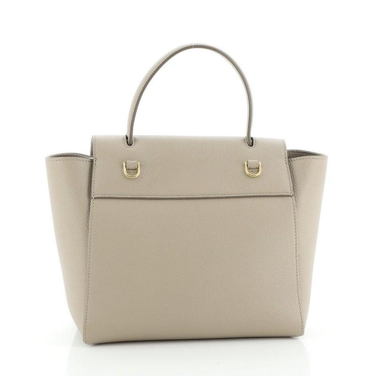 Celine Belt Bag Textured Leather Nano In Good Condition For Sale In New York, NY