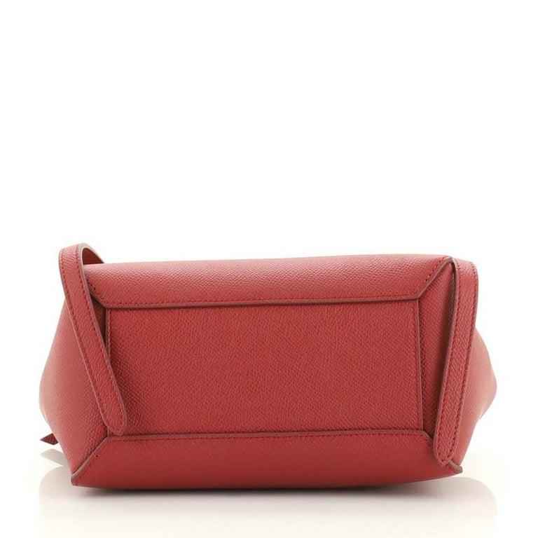 Women's or Men's Celine Belt Bag Textured Leather Nano For Sale