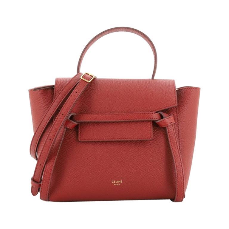 Celine Belt Bag Textured Leather Nano For Sale