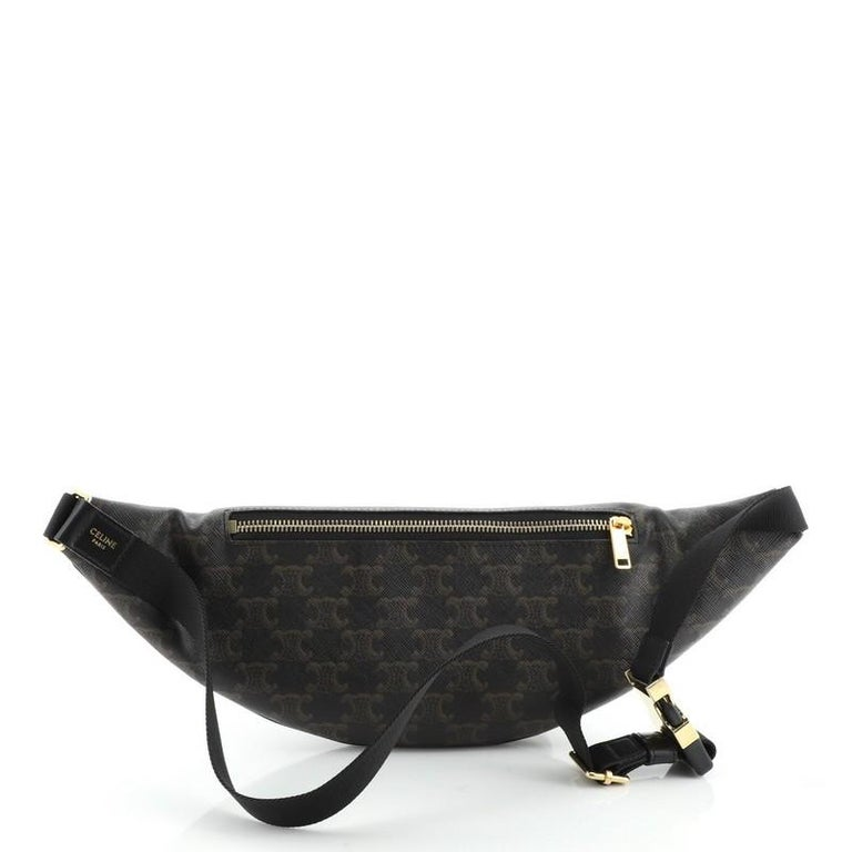 Celine Belt Bag Triomphe Coated Canvas In Good Condition In New York, NY