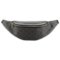 Celine Belt Bag Triomphe Coated Canvas