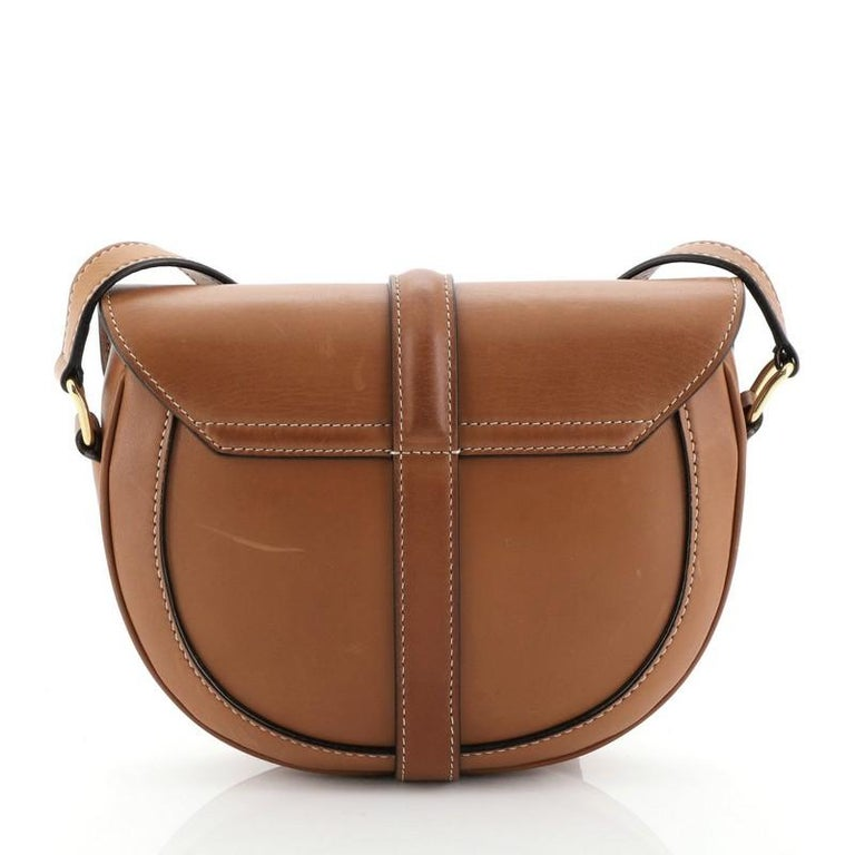 Brown Celine Besace 16 Bag Smooth Calfskin Small  For Sale