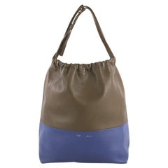 Celine Bicolor Drawstring Cabas Tote Leather