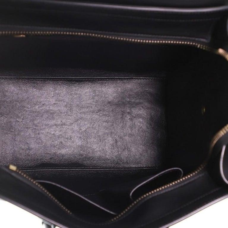 Women's or Men's Celine Bicolor Luggage Bag Leather Micro
