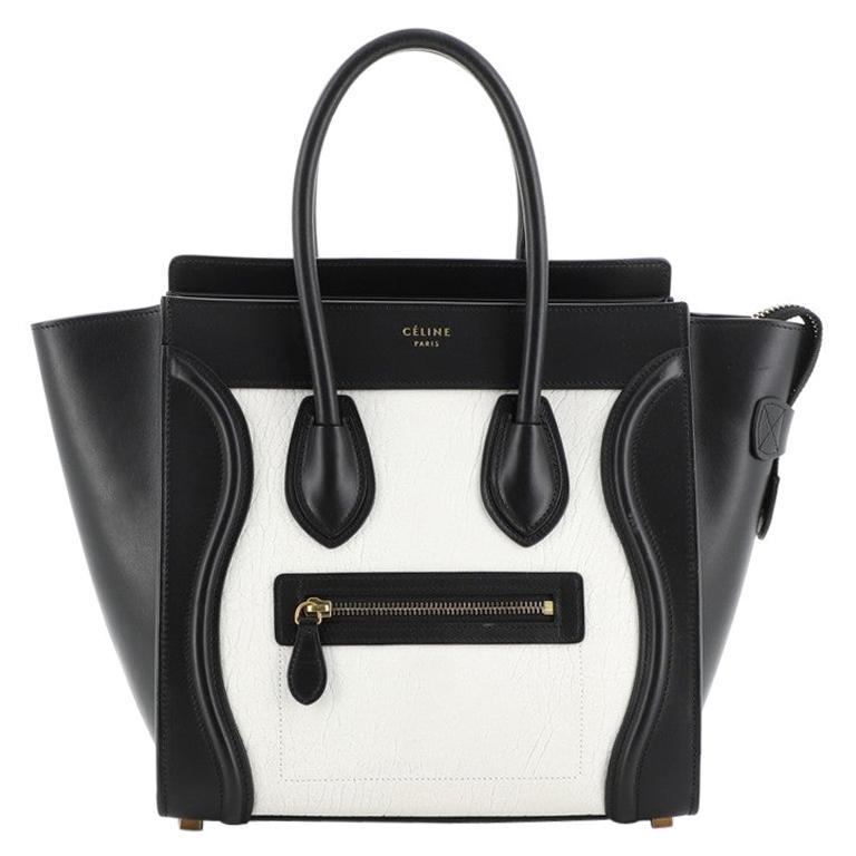 Celine Bicolor Luggage Bag Leather Micro