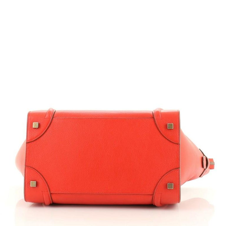 Celine Bicolor Luggage Bag Leather Mini In Good Condition For Sale In New York, NY